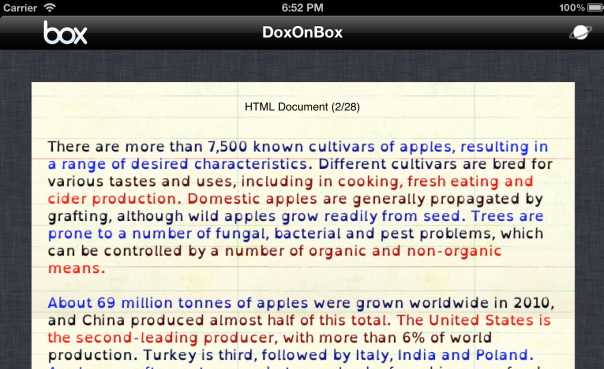 DoxOnBox with OpenDyslexic and Beeline viewing Wikipedia